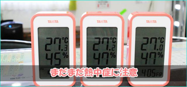 この夏活躍した室温計